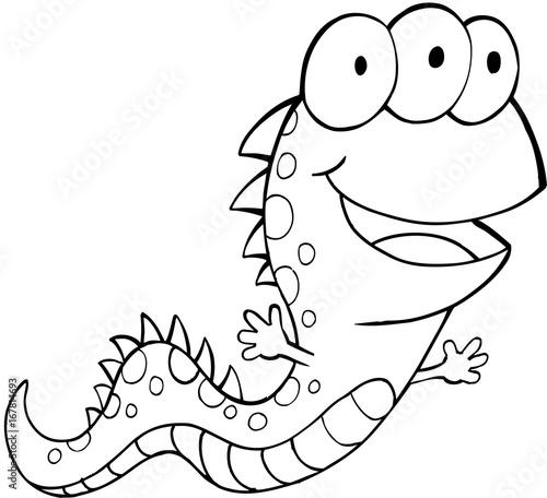 In de dag Cartoon draw Cute Monster Vector Illustration Art