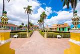 View to the city's main square, Trinidad, Sancti Spiritus, Cuba. Copy space for text.
