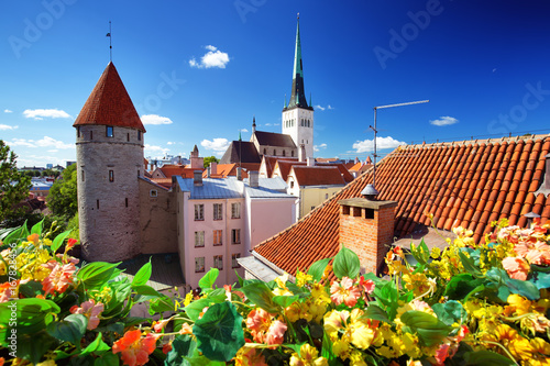 View to old Tallinn in middle summer Poster