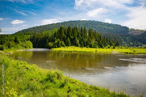 Fotobehang Bergrivier mountain river scene