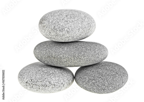 Pyramid of the SPA stones isolated on a white background
