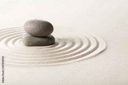 Spoed canvasdoek 2cm dik Stenen in het Zand Zen.