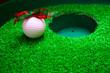 golf ball at hole for Christmas holiday