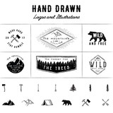 Rustic Logos And Illustrations  Wall Sticker