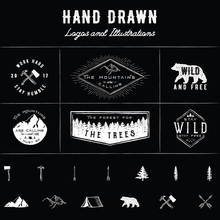 Rustic Logos And Illustrations  Sticker