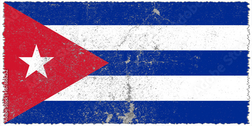 Cuba flag grunge background. Background for design in country flag