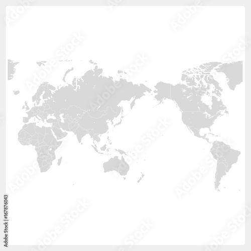 Fotobehang Wereldkaarten 世界・世界地図・World map