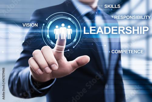 Poster Leadership Business Management Teamwork Motivation Skills concept