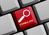 Tastatur mit Lupe: Formulare - 167888848