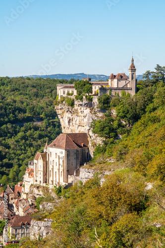 Rocamadour. Vue sur le rocher Lot. Occitanie