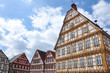 Old half-timbered houses on the square in Leonberg, Baden-Wurttemberg, Germany.