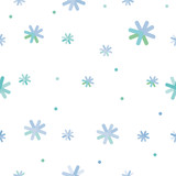 Vector seamless background winter snowflakes