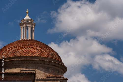 The dome of Medici Chapels in the San Lorenzo Church in Florence, Tuscany, Italy Poster