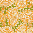 Paisley seamless floral pattern. Asian vintage background - 167915854