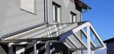 Haustür-Vordach aus Glas (Glass canopy front door) - 167916462