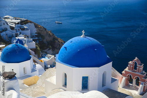 Foto op Plexiglas Santorini Oia Church Dome in Santorini