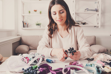 Handmade headbands making, home workshop