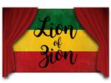 Jamaica flag behind the courtain