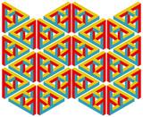 Geometrische Abstrakte Phantasie illustration