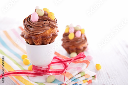 Sticker dessert for easter