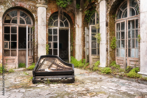 Piano on the Floor in Castle.