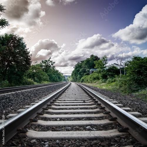 In de dag Spoorlijn railway