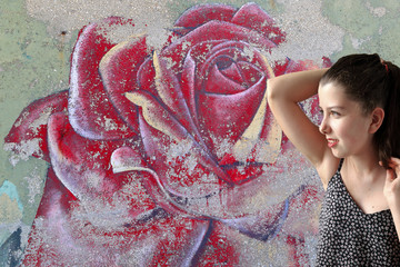 Rose graffiti