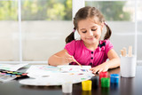 Little Girl Painting Picture - 167973079