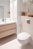 Modern bathroom, scandinavian interior