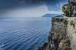 Quadro Panoramic view of the Tyrrhenian Sea from the island of Lipari