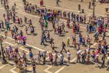 Crowd in St. Mark's Square in Venice - 167990474