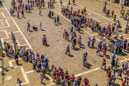 Crowd in St. Mark's Square in Venice