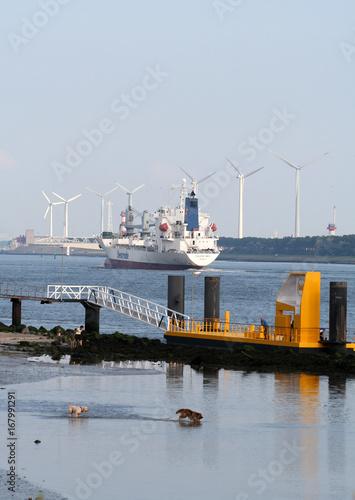 Aluminium Rotterdam The new waterway Nieuwe Waterweg) near Hoek van Holland