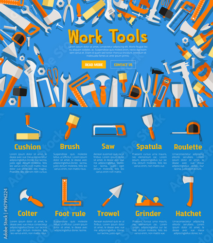 Work tools poster for hardware store design - 167996224
