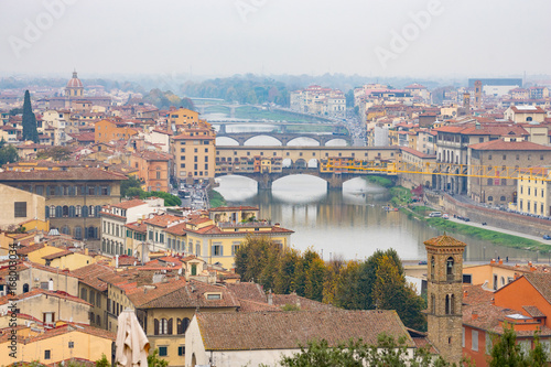 Wall mural View of Florence city