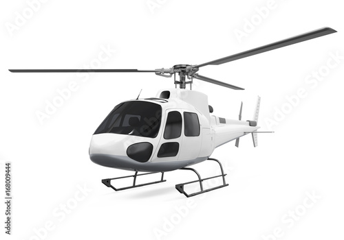 Fototapeta Helicopter Isolated