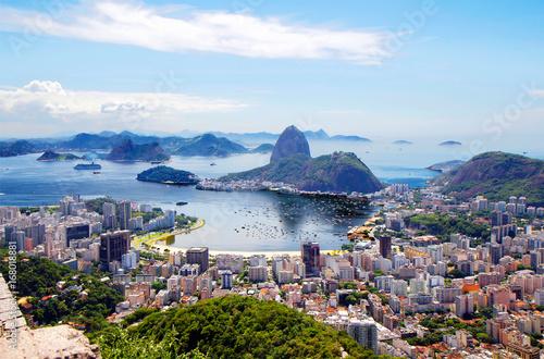 Fotobehang Rio de Janeiro Бразилия. Рио-де-Жанейро.Общий вид города.