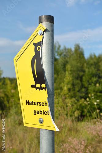 naturschutzgebiet, vandalismus Poster