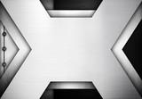 x metal template design background