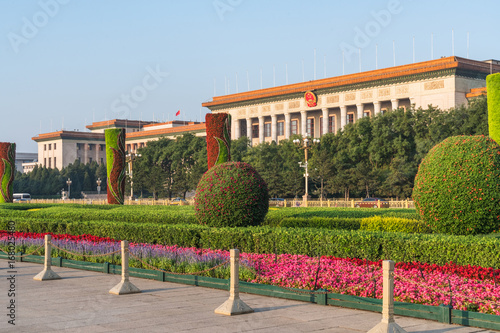 Foto op Canvas Peking The Great Hall of the People in Beijing,China.