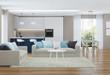 Modern house interior. 3D rendering. - 168031627