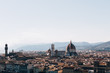 Quadro Florence skyline and famous sights from Piazzale Michelangelo on a summer day. Space for copy