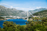 The Franjo Tudman cable-stayed bridge, Dubrovnik, Croatia. - 168043049
