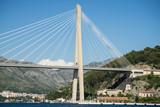 The Franjo Tudman cable-stayed bridge, Dubrovnik, Croatia. - 168043246