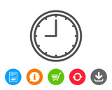 Clock line icon. Time or Watch sign.
