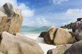 Granite Rocks On The Beach, La Digue, Seychelles