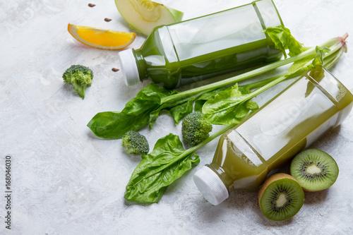 Fruit and vegetables juice in bottle