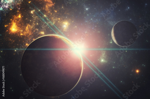 Fantasy alien extraterrestrial planet