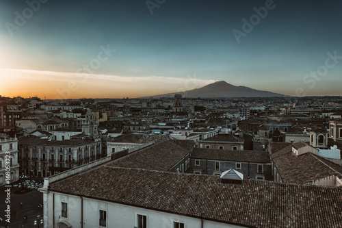 Sticker Sicily Volcano