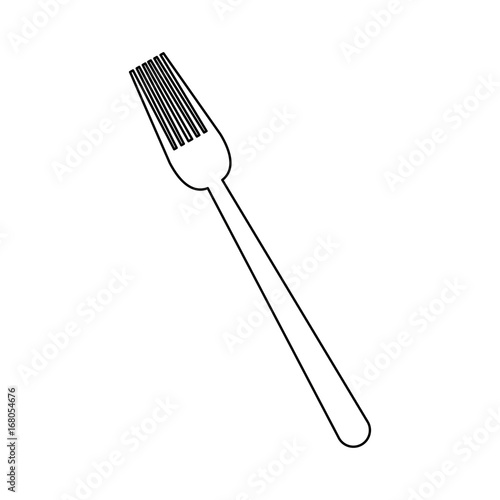 fork cutlery eating utensil kitchen icon vector illustration